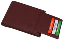 Brown Color Velvet Men's Wallet - BRW-SLIDE