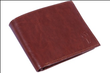 Brown Color Velvet Men's Wallet - BRWCPHDR