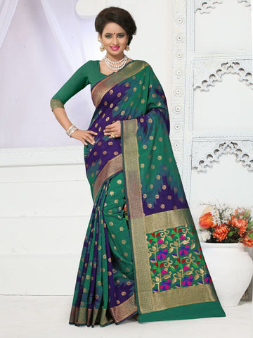 Multi Color Banarasi Silk Saree - BSTYLE-592