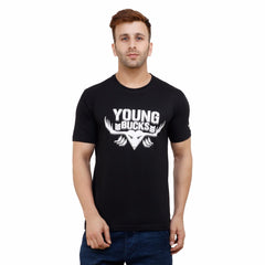 Buy Black Color Cotton Mens Tshirt