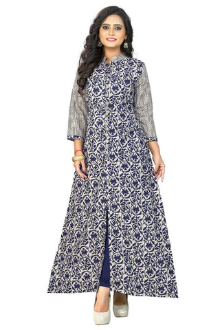 Blue Color Cotton ReadyMade kurti - BVF-KU-92