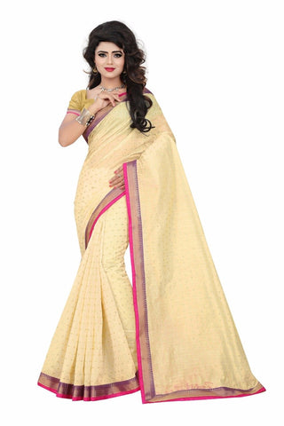 SRP FASHION-Yellow Color Jacquard Saree- BaniLightYellow