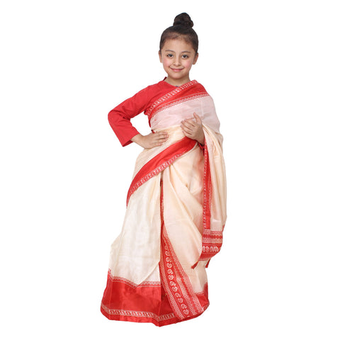 Multi Color Cotton Blend Fancy Costume Dress  - Bihu saree-1