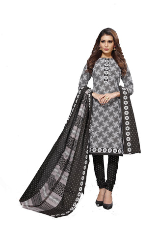 Black Color Cotton  Stitched Salwar  - Blackbeauty-19003