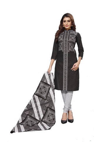 Black Color Cotton  Stitched Salwar  - Blackbeauty-19006