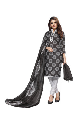 Black Color Cotton  Stitched Salwar  - Blackbeauty-19008