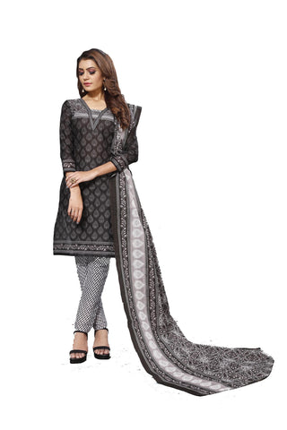 Black Color Cotton  Stitched Salwar  - Blackbeauty-19010