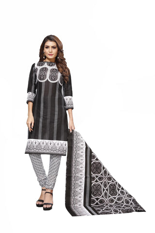 Black Color Cotton  Stitched Salwar  - Blackbeauty-19012