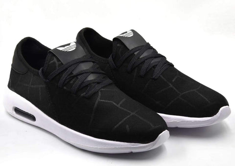 Black Color Lycra Men Shoe - Blackmakdi