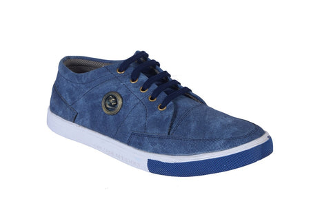 Blue Color Denim Men Shoe - Bluebakkal