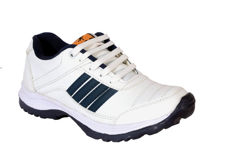 White Color Synthetic Mens Sports Running shoe - Bluewhite