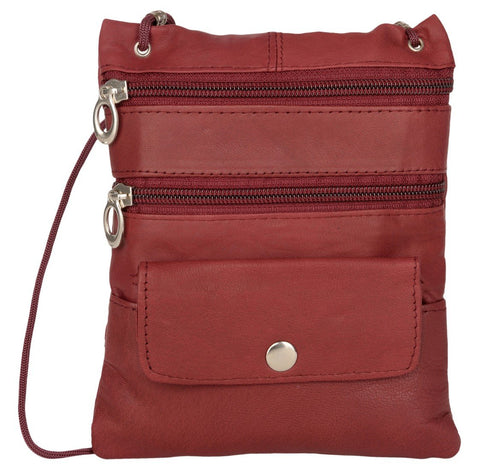 Maroon Color Leather Women Cross Body Bag - C-13Mahroon