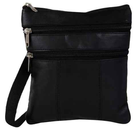 Black Color Leather Women Cross Body Bag - C-14BLK