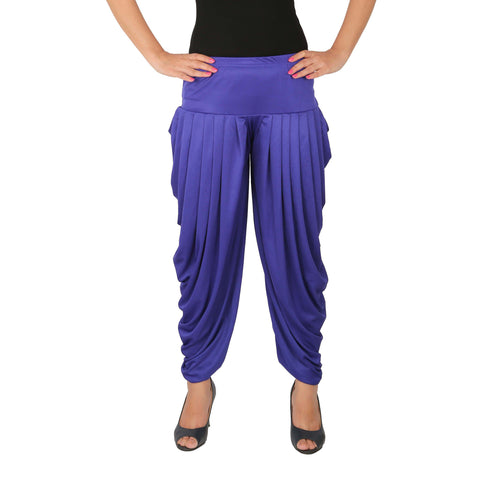 Blue Color Lycra Free Size Dhoti Pants  - C-SP-DH-B1