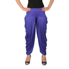 Blue Color Lycra Free Size Dhoti Pants