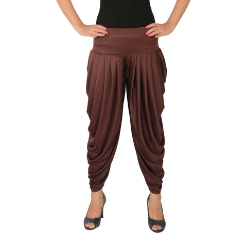 Brown Color Lycra Free Size Dhoti Pants  - C-SP-DH-B2
