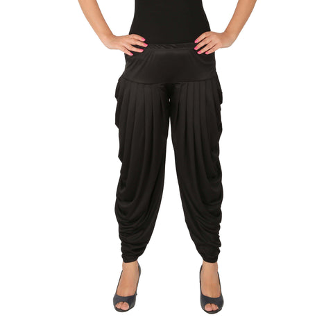 Black Color Lycra Free Size Dhoti Pants  - C-SP-DH-B