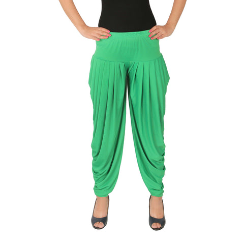 Green Color Lycra Free Size Dhoti Pants  - C-SP-DH-G