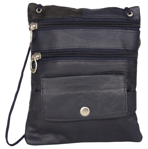 Black Color Leather Women Cross Body Bag - C13BLACK