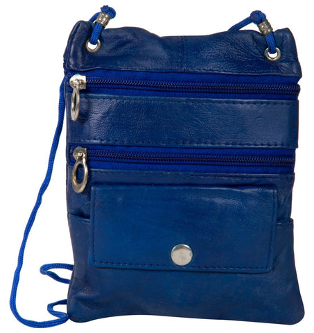 Blue Color Leather Women Cross Body Bag - C13BLUE