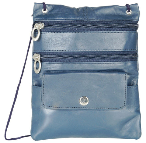 Dark Blue Color Leather Women Cross Body Bag - C13DBlue