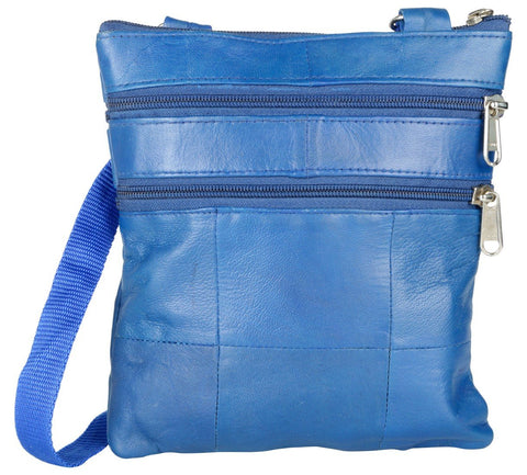 Blue Color Leather Women Cross Body Bag - C14BLUE