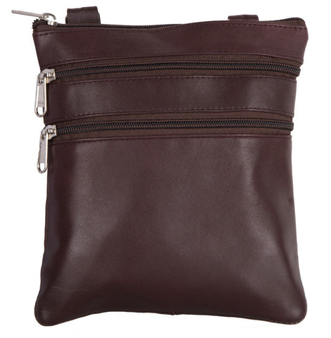 Brown Color Leather Women Cross Body Bag - C14BROWN