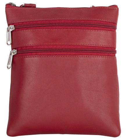Red Color Leather Women Cross Body Bag - C14RED
