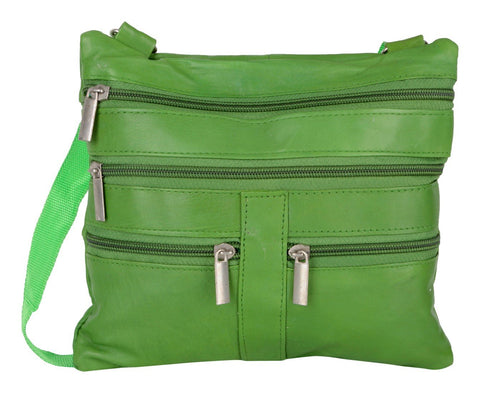Green Color Leather Women Cross Body Bag - C15GREEN