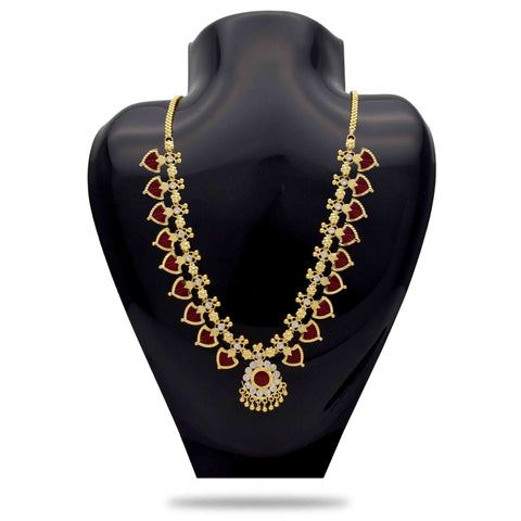 Red and Gold Color Alloy Necklace  - C3PNPG0008A