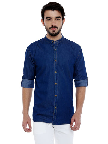 Blue Color Cotton Mens Shirt - C3SD0B