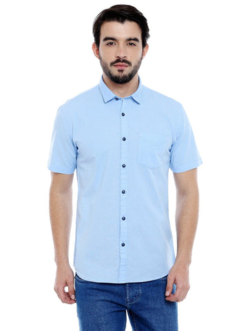 Light Blue Color Cotton Shirt - C3SRLB