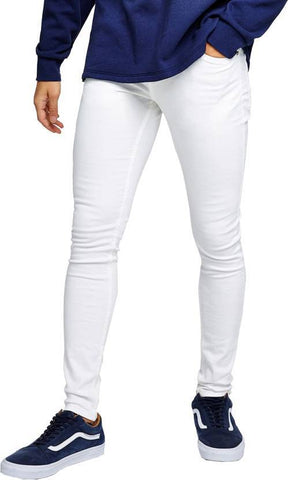 Calcium Skinny Men's White Denim Jeans - CAL0017
