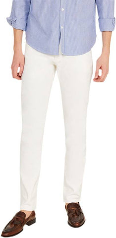 Calcium Skinny Men's White Denim Jeans - CAL0019