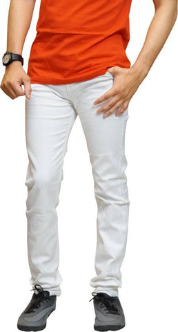 Calcium Skinny Men's White Denim Jeans - CAL007