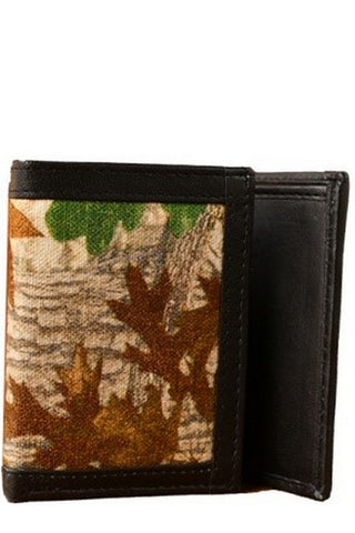 Multi Color Canvas Leather Mens Wallet - CANVASTREEPRINT