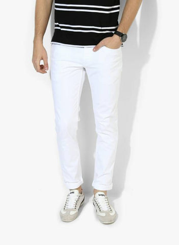 Lawson Skinny Men's White Cotton Jeans - CC-102