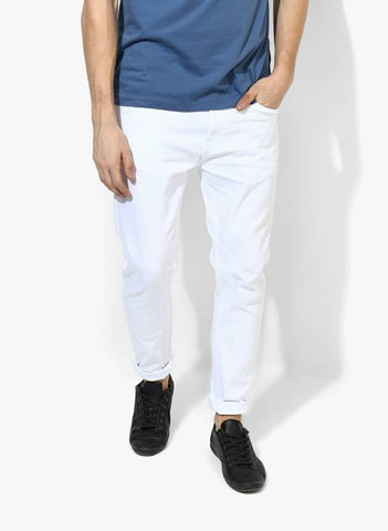 Lawson Skinny Men's White Cotton Jeans - CC-103