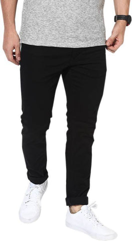 Lawson Skinny Men's Black Cotton Satin Jeans - CD11