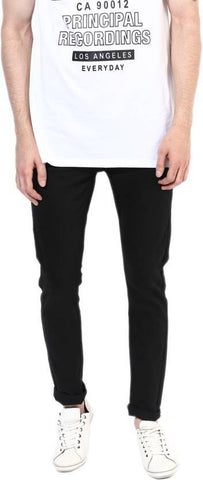 Lawson Skinny Men's Black Cotton Satin Jeans - CD33