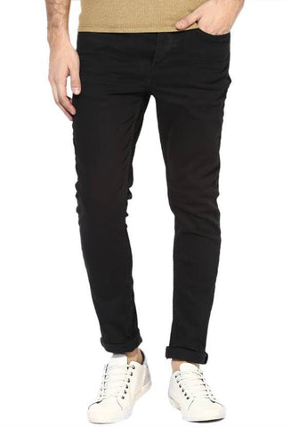 Lawson Skinny Men's Black Cotton Satin Jeans - CD44