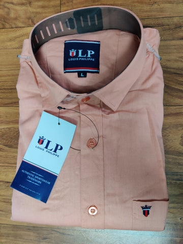 Light Coral Color Premium Cotton Men's Plain Shirt - CGTK-171219-LP-PL-1