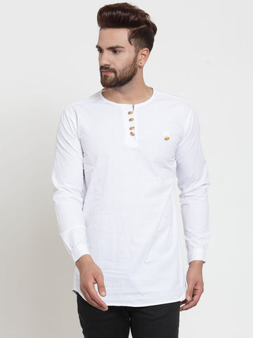 White Color Cotton Men's Shirt  - CM-KR13