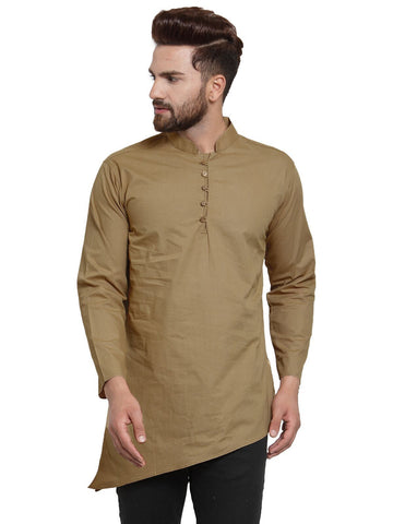 Beige Color Cotton Men's Shirt  - CM-KR23