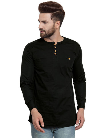 Black Color Cotton Men's Shirt  - CM-KR24