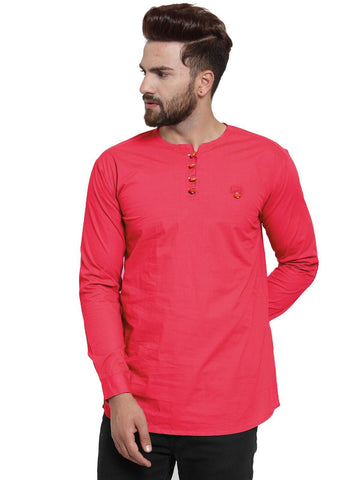 Gajri Color Cotton Men's Shirt  - CM-KR25