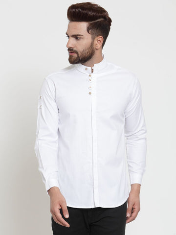 White Color Cotton Men's Shirt  - CM-ST43