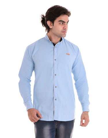 Sky Blue Color Cotton Men's Shirt  - CM-ST53