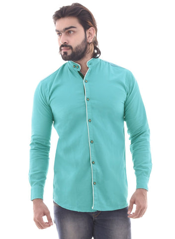 Gajri Color Cotton Men's Shirt  - CM-ST56
