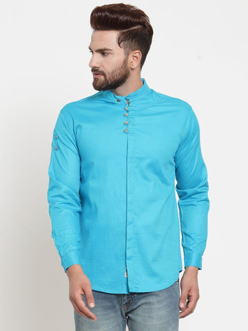 Firoji Color Cotton Men's Shirt  - CM-ST84